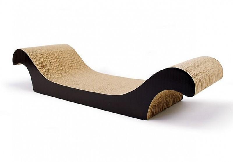 canap griffoir pour chat carta deluxe noir griffoir. Black Bedroom Furniture Sets. Home Design Ideas