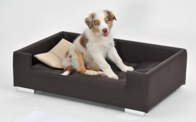 Canapé pour chien Candy brun - beige