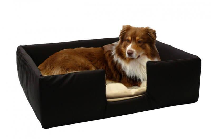Canap pour chien classic gr 1 brun beige panier et for Canape pour chien