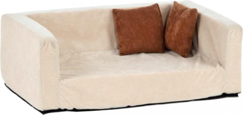 sofa pour chien buddy velour optik sable anthracite panier et corbeille. Black Bedroom Furniture Sets. Home Design Ideas