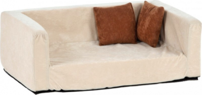 Sofa pour chien Buddy Velour-Optik sable - anthracite