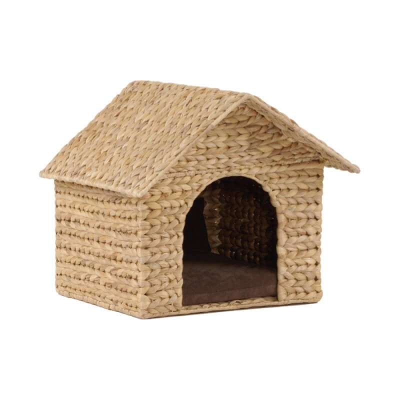 Maison pour chat casa naturel marron couchage chat - Repulsif naturel pour chat interieur ...