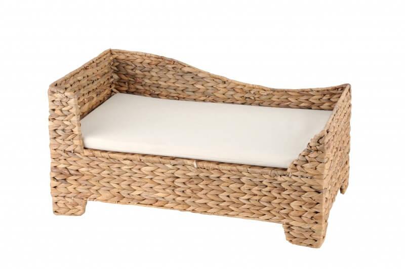 corbeille pour chien ottomane avec coussin blanc panier et corbeille. Black Bedroom Furniture Sets. Home Design Ideas