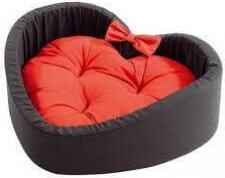 Corbeille CUORE rouge et noire LOVE