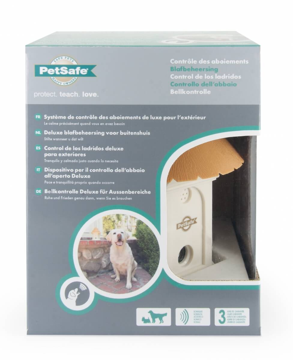 Petsafe syst me anti aboiement ext rieur ultrasons deluxe for Systeme anti aboiement exterieur