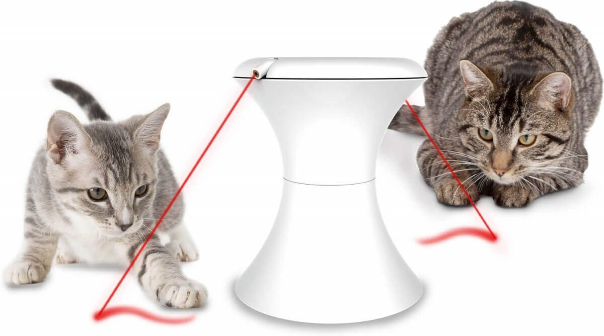 Automated Cat Toys : Automatic rotating laser light frolicat dart and duo