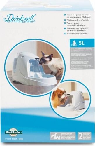 fontaine drinkwell platinium pour chien et chat fontaine eau et distributeur d 39 eau. Black Bedroom Furniture Sets. Home Design Ideas