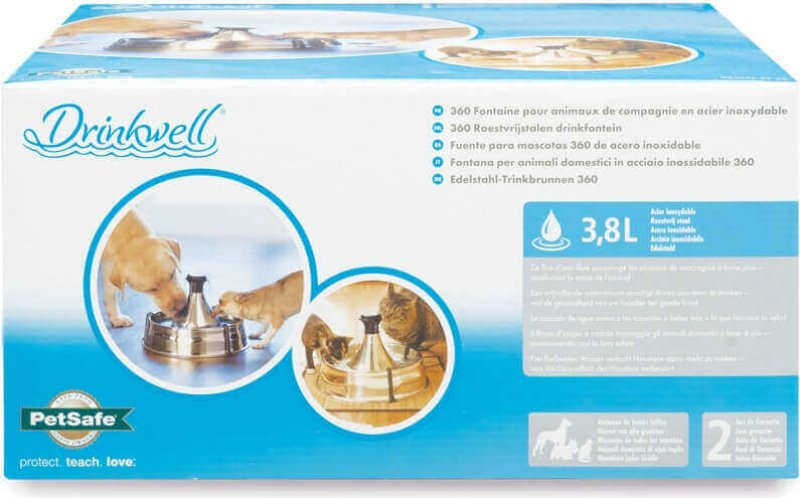 Fontaine Drinkwell Inox 360° pour chien et chat