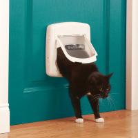 Staywell® Katzenklappe De Luxe manuell mit 4 Positionen 300SGIFD - Weiß