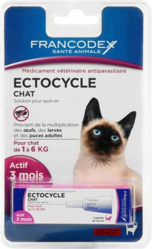 ECTOCYCLE CHAT 1 pipette 0.6ml (pour chat de 1kg à 6kg