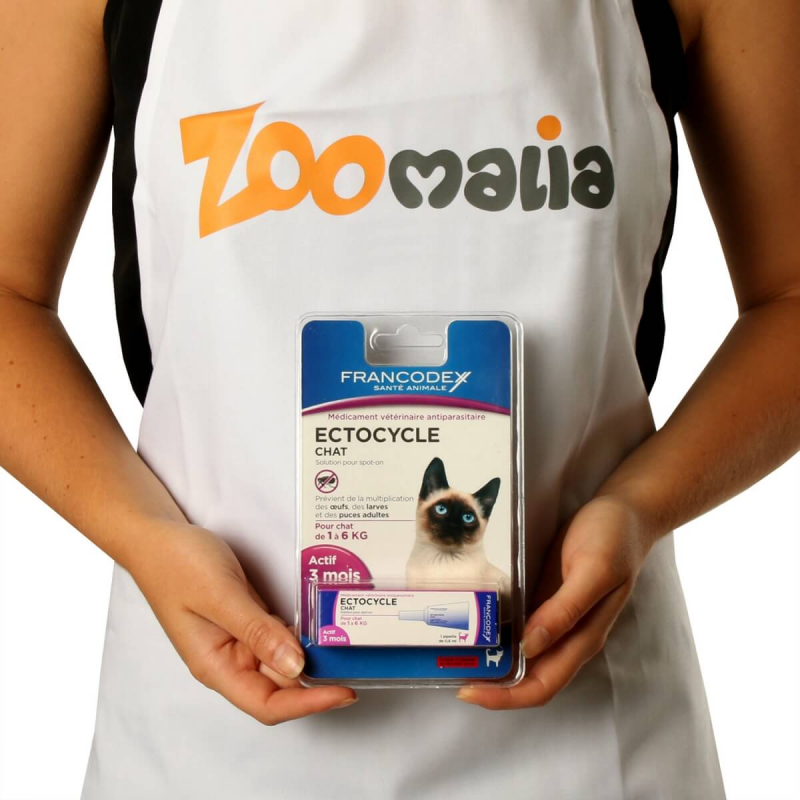 Francodex Ectocycle Chat - 1 pipette 0.6ml (pour chat de 1kg à 6kg)