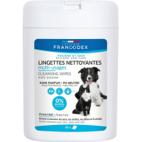 Francodex Lingettes nettoyantes multi-usages pour chiens et chats