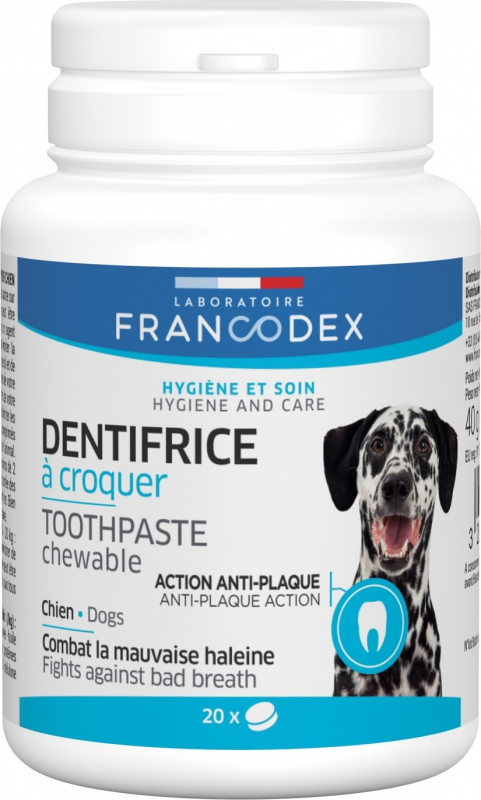 Francodex Dentifrice à croquer 20 comprimés