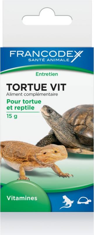 Francodex Schildkröte Vit 15g - Vitamine für Reptilien und Schildkröten