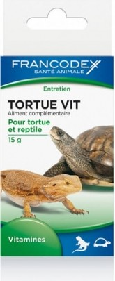 Francodex Tortue Vit 15g - Vitamines pour reptiles et tortues