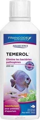 Aquascience Témerol 125ml - Désinfectant pour poissons d'aquarium. Elimine les bactéries pathogènes (eau douce - eau de mer)