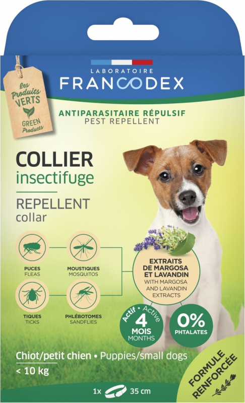 Francodex Collier Antiparasitaires Insectifuge - Efficace 4 mois
