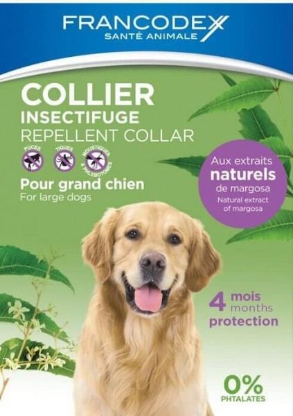 Collier Antiparasitaires Insectifuge - Efficace 4 mois