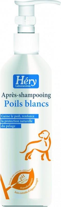 Après-shampoing poil long blanc