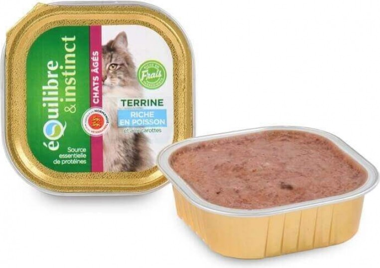 Equilibre & Instinct Terrine pour chat âgé - 2 saveurs au choix