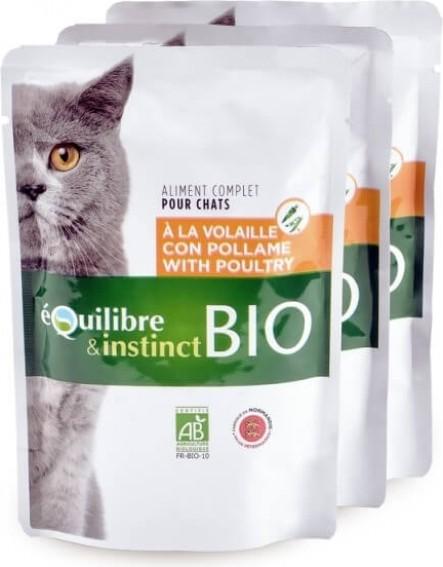 Equilibre & Instinct Pâtée mitonnée BIO chat adulte Volaille et légumes