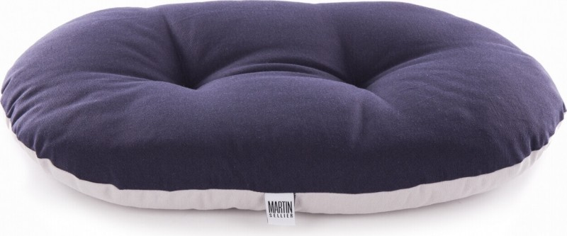 Coussin ovale bicolore ouatiné