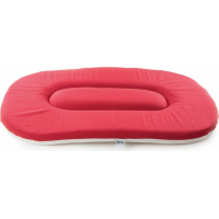 Coussin galette ovale plat Corail