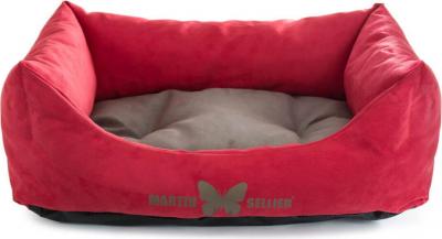 Corbeille domino Suédine bicolore rouge/gris