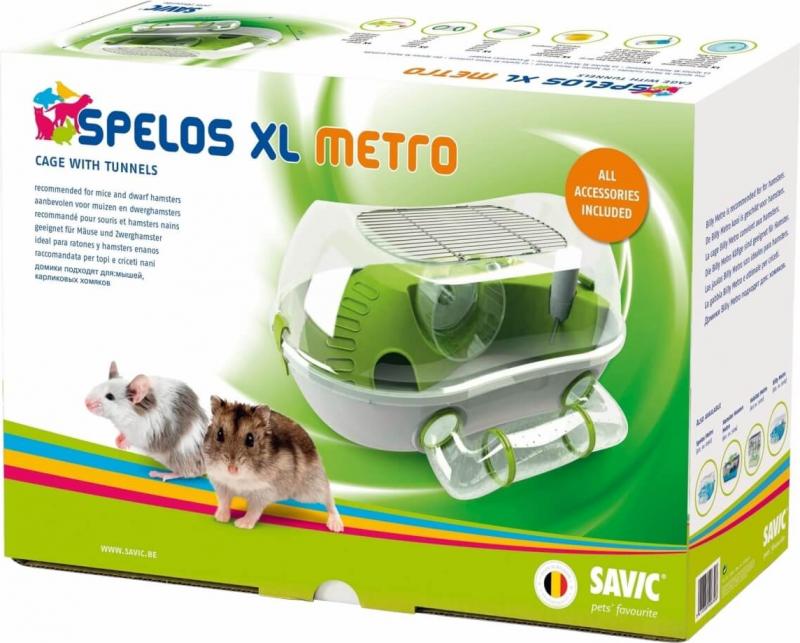 Cage pour hamster et petit rongeur - 59 cm - Spelos Metro XL