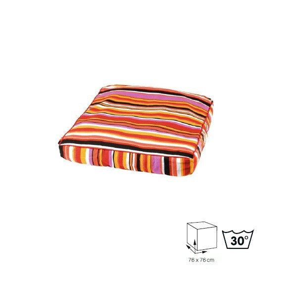 coussin art d co rouge orange coussin et tapis. Black Bedroom Furniture Sets. Home Design Ideas