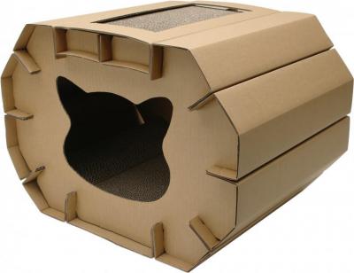 Rascador mullido Cat Love con hierba para gato  50 x 38 x 35 cm