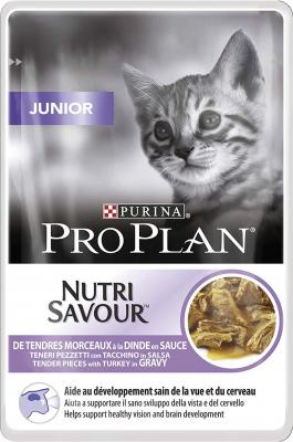 PRO PLAN Junior Pâtée à la dinde en sauce pour chaton