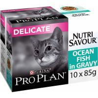 PRO PLAN NutriSavour Delicat Pâtée au poisson en sauce pour chat