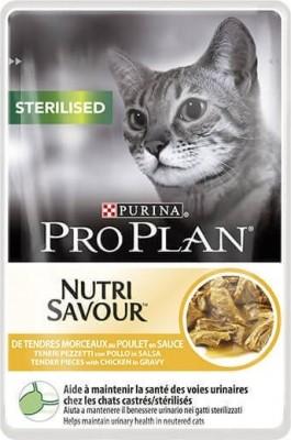 PRO PLAN Sterilised Pâtée au poulet en sauce pour chat stérilisé