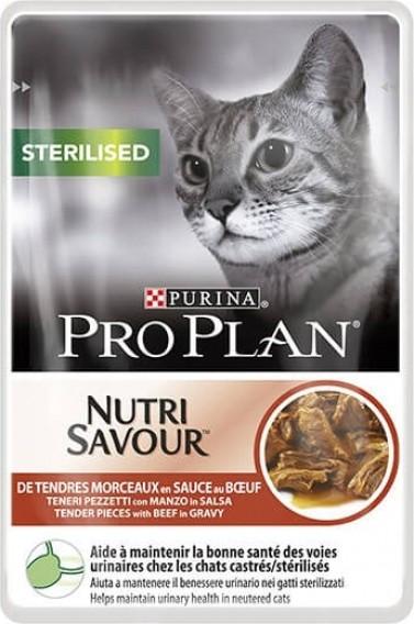 Nassfutter für sterilisierte Katzen mit Rindfleisch - 85g - für gesunde Harnwege
