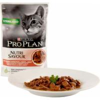 PRO PLAN Sterilised Pâtée au boeuf en sauce pour chat stérilisé