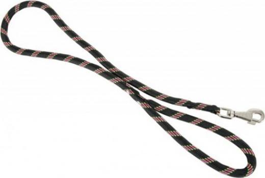 Laisse corde en nylon Noir