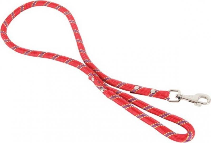 Laisse corde en nylon Rouge