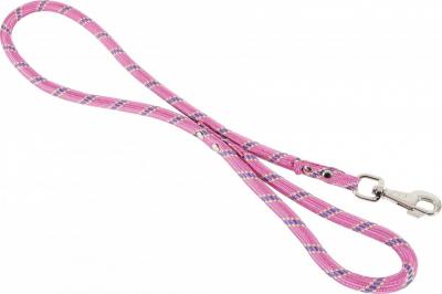 Laisse corde en nylon Rose