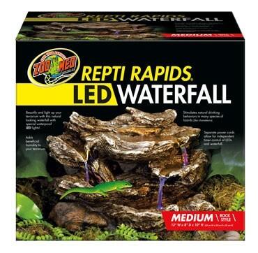 LED Wasserfall mit natürlicher Felsdekor_4