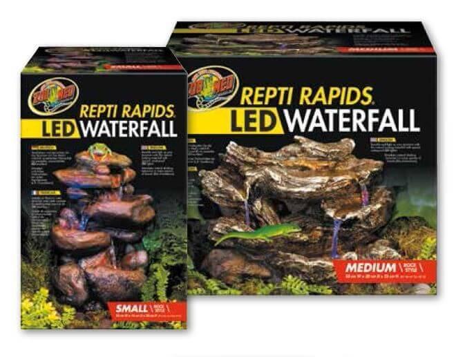 LED Wasserfall mit natürlicher Felsdekor_0