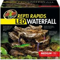 LED Wasserfall mit natürlicher Felsdekor (5)