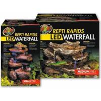LED Wasserfall mit natürlicher Felsdekor (1)