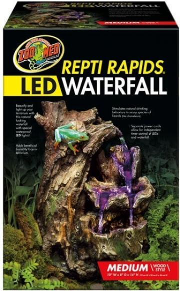 Cascade aspect bois et éclairage LED