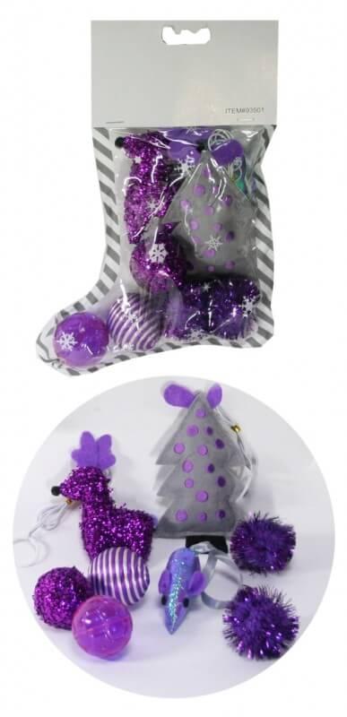 Calcet n de navidad para gatos juguetes para gatos - Calcetin de navidad ...