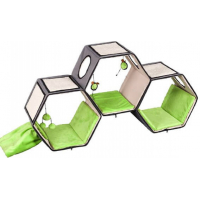 Meuble griffoir Hexagon lounge gris/vert