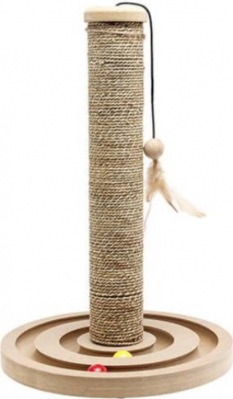 Griffoir jonc de mer + jouet Brigitte - 42cm