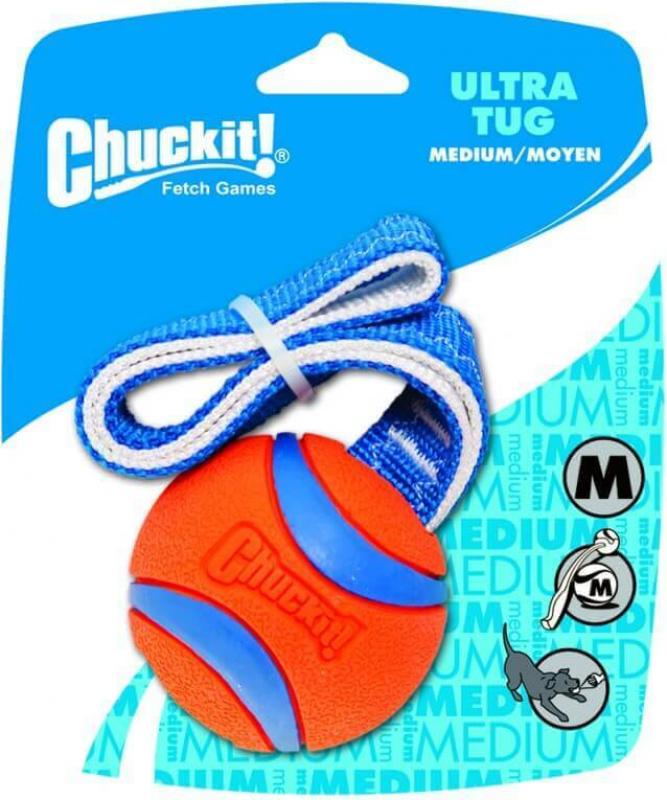 Balle avec poignée pour chien ULTRA TUG Chuckit!