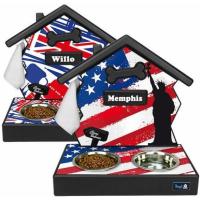 Soporte de comedero personalizado,decoración Flag