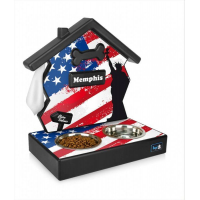 Support de gamelles personnalisables esprit Flag - BowlHood